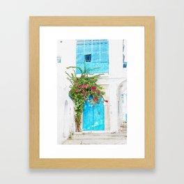 Tunisian door Framed Art Print