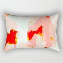 Veronica - Red & blush abstract art Rectangular Pillow