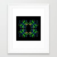 poison ivy Framed Art Prints featuring Poison Ivy by Pani Grafik