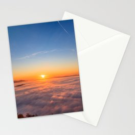 Sun peaking above clouds in the morning Stationery Cards