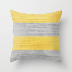 Brush Stroke Stripes: Silver and Gold Throw Pillow