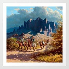 """Superstition Trail"" by Oleg Wieghorst Art Print"