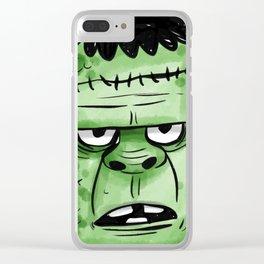 Frankenstrein Happy Halloween Clear iPhone Case