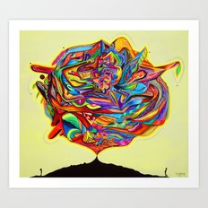 In wonder of Light & Rythm Art Print
