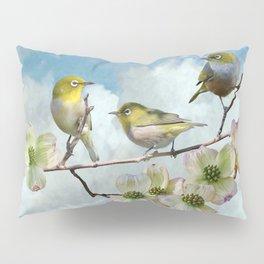 Mejiro in Dogwood Tree Pillow Sham