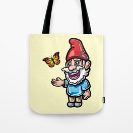 Gnome and Butterfly Tote Bag