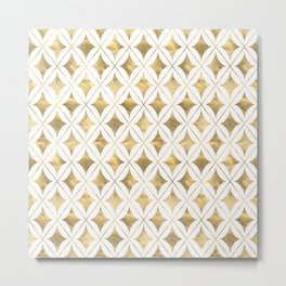 Gold Diamond Pattern Metal Print