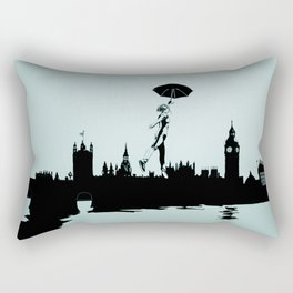 Crossing the Thames Rectangular Pillow