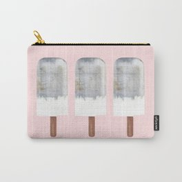 Raw Concrete with White Popsicle Carry-All Pouch