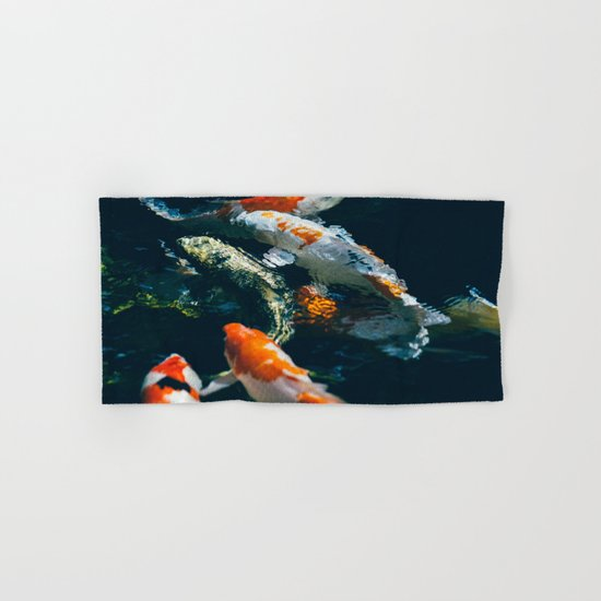 Koi Fish In Water Hand & Bath Towel