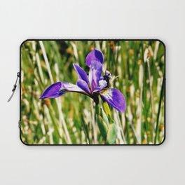 Wild iris on Seal Island, Nova Scotia Laptop Sleeve