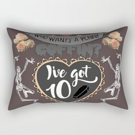 Penny Coffins Rectangular Pillow