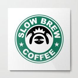 Slow Brew Coffee Metal Print