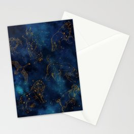 Animal Constellations Stationery Cards