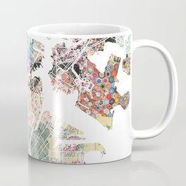Boston map portrait Coffee Mug