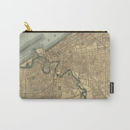 Vintage Map of Cleveland OH (1894) Carry-All Pouch