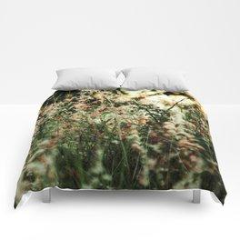 Flowers in the sun Comforters