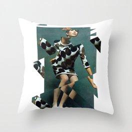 Collage Vintage Throw Pillow