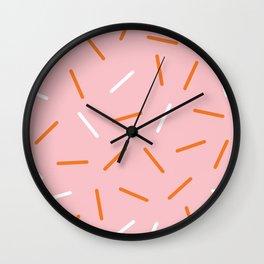 Pink Sprinkles Wall Clock
