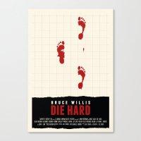 die hard Canvas Prints featuring Die Hard Movie Poster by ZTH Design