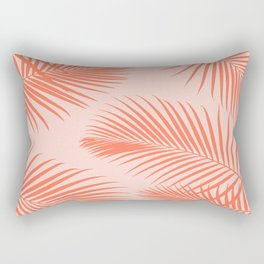 Coral Palms ~ Summer Tropical Pattern Rectangular Pillow