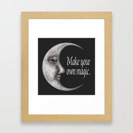 Make your own magic | Moon quotes | Moon goddess Framed Art Print