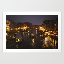 The hustle and bustle of Venice Art Print
