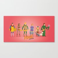 dungeons and dragons Canvas Prints featuring Dungeons and Dragons - Pixel Nostalgia by Boo! Studio