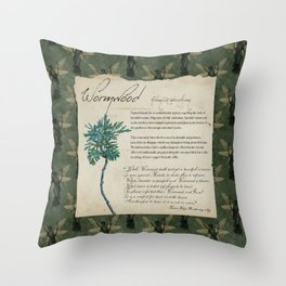 Herbal Apothecary: Wormwood Throw Pillow