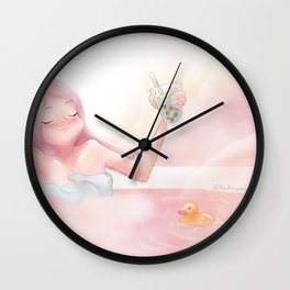 Hot Spring Wall Clock