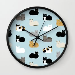 Cat Loaf Print Wall Clock
