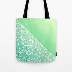 B Rays Geo Gradient Green Tote Bag