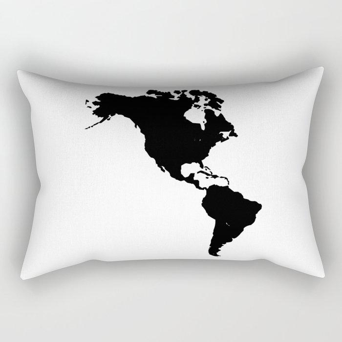 The Americas Silhouette Rectangular Pillow