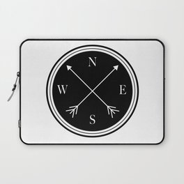 Directions \\ Abstract Compass Design Laptop Sleeve