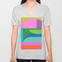 Color Block 03 Unisex V-Neck