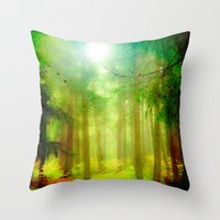 fairy tale Throw Pillows featuring Fairy tale by Armine Nersisian