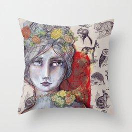 Nature Study by Jane Davenport Throw Pillow