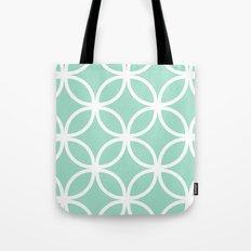 Mint Geometric Circles Tote Bag
