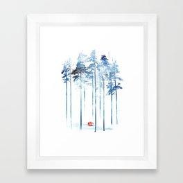 Sleeping in the woods Framed Art Print