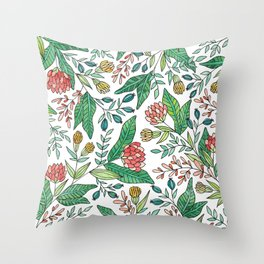 Wildflower Pattern - Full Color Throw Pillow