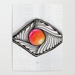 Doodled Gem Sparkle Eye Poster