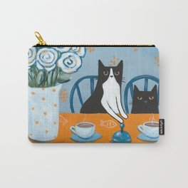 Cats and a French Press Carry-All Pouch