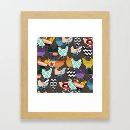 Cincinnati Chickens Framed Art Print