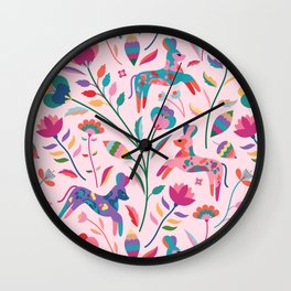 Painted Dogs Wall Clock