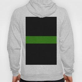 Thin Green Military Flag Hoody