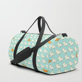Proud cat pattern blue Duffle Bag
