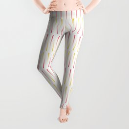 Red and Yellow Pattern Leggings