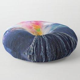 Rainbow Volcano Floor Pillow