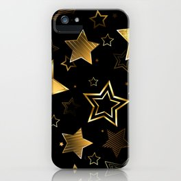 Seamless with Golden Stars iPhone Case