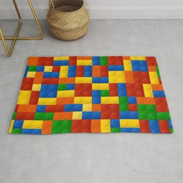 Plastic pieces pattern Rug